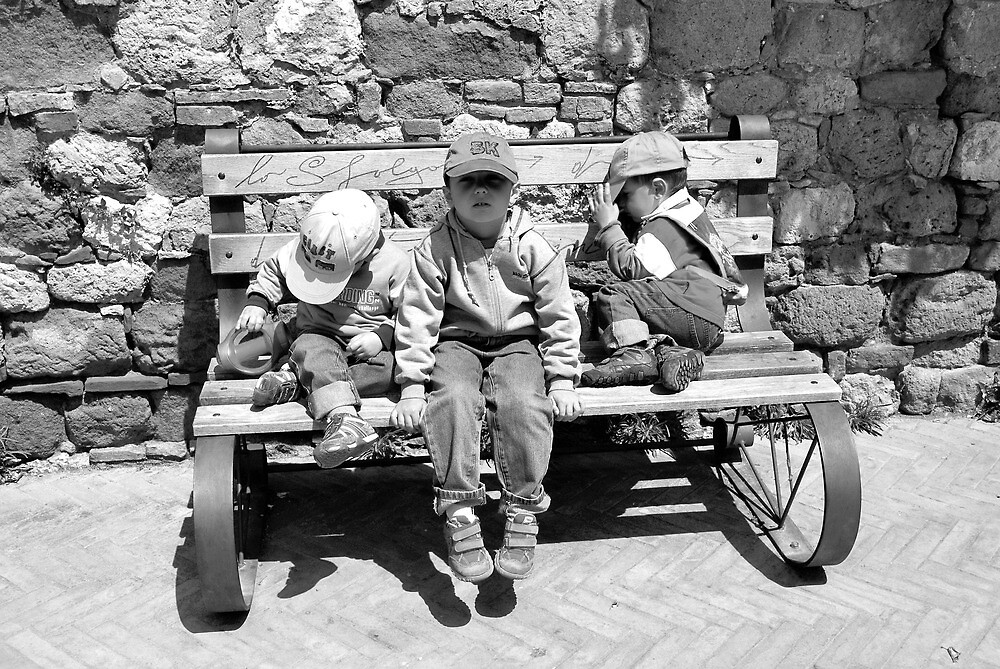 Three Italian Brothers-Pienza, Italy by Deborah Downes
