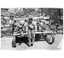 Three Italian Brothers-Pienza, Italy Poster