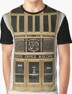 Ornate Entrance to State Office Building Graphic T-Shirt