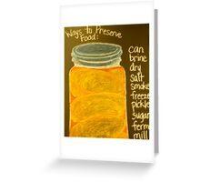 Old Ball Jar of Peaches Greeting Card
