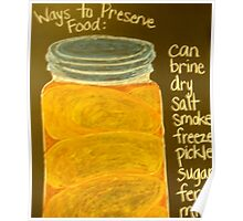 Old Ball Jar of Peaches Poster