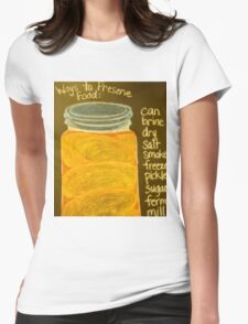 Old Ball Jar of Peaches Womens Fitted T-Shirt