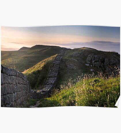 Hadrian's Wall on Cawfield Crags Poster