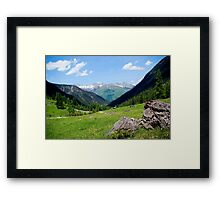 View over the mountain tops Framed Print