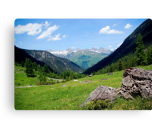View over the mountain tops Canvas Print