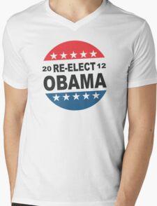 Womens Re-Elect Obama 2012 Shirt Mens V-Neck T-Shirt