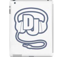 DJ head set simple graphic iPad Case/Skin