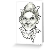 """The Little Devil"" Greeting Card"