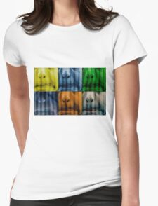 Warhol meets Vasarely II - Pig brother Womens Fitted T-Shirt