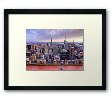 A Downtown view of New York City Framed Print