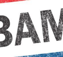 Vote Obama 2012 Vintage Button Shirt Sticker