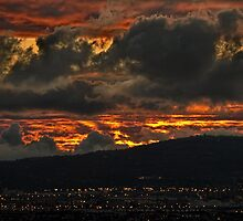 Fire in the sky by Celeste Mookherjee