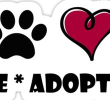 Rescue * Adopt * Love Sticker