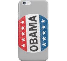 Vote Obama 2012 Vintage Button Shirt iPhone Case/Skin