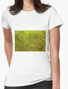 Green algae with air bubbles Womens Fitted T-Shirt