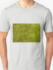 Green algae with air bubbles on a lake surface. Unisex T-Shirt