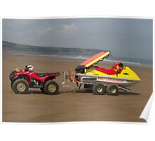 RNLI ATV and rescue jet ski Poster