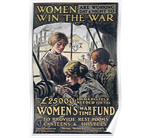 Women are working day night to win the war 467 Poster