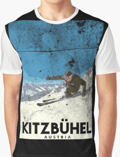 Ski Kitzbühel Austria (eroded) Graphic T-Shirt