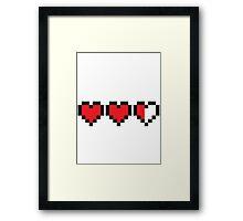 Zelda Heart Container Framed Print