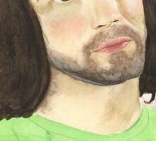 Game Grumps Danny Sexbang Dan Avidan Watercolor Portrait Sticker