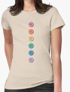 Button Tee Womens Fitted T-Shirt