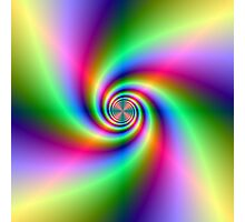 Psychedelic Neon Spiral Photographic Print