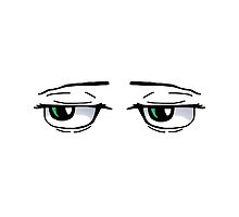 Anime annoyed eyes by DrawingStraws