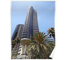 San Diego California City Metro Buildings Poster
