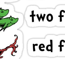 One fish, two fish, red fish, Brian fish Sticker