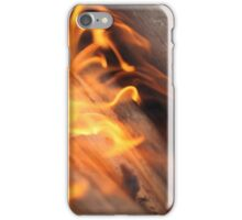 Burning wood branches iPhone Case/Skin