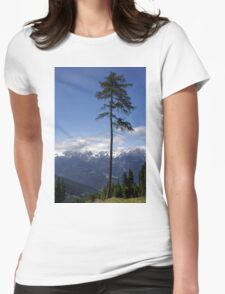 Overlooking Stubaier Alps  Womens Fitted T-Shirt