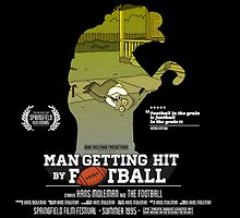 Man Getting Hit By Football by SamHallPOA
