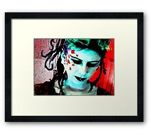 Lady Punk Rock Framed Print