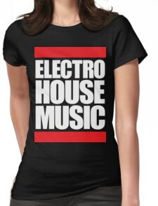 Electro House Music  Womens Fitted T-Shirt