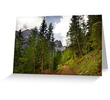 View  Mountain  Ilm Spitze  Greeting Card