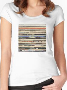 The Beatles, Led Zeppelin, The Rolling Stones - Classic Rock Albums Women's Fitted Scoop T-Shirt