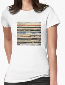 The Beatles, Led Zeppelin, The Rolling Stones - Classic Rock Albums Womens Fitted T-Shirt