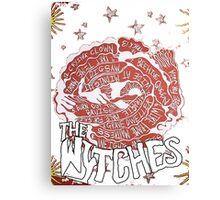The Wytches back LP art Canvas Print