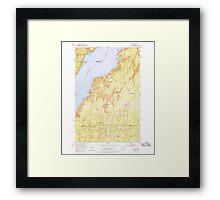 USGS Topo Map Washington State WA Holly 241555 1953 24000 Framed Print