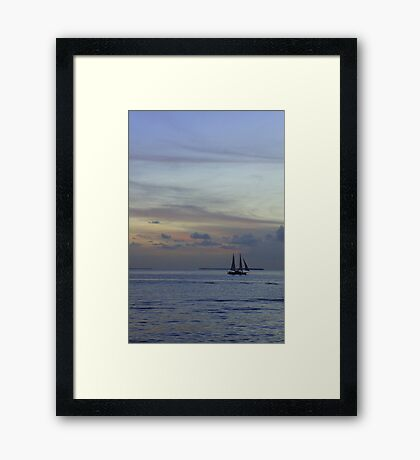 Into the pastel sky Framed Print