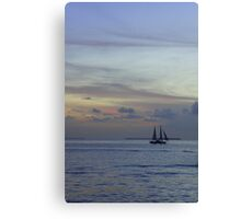 Into the pastel sky Canvas Print