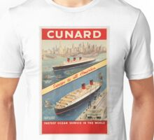 Vintage poster - Cunard Unisex T-Shirt