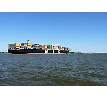 Elbe Ship Container Ship Shipping Maritime Photographic Print