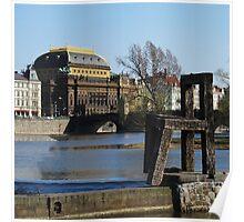 The National Theatre Theatre Vltava Art Poster