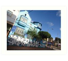 Bogota House Blue Blue Houses Art Print