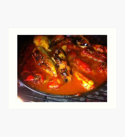 Filled Paprika Vegetables Food Red Eat Art Print