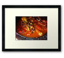 Filled Paprika Vegetables Food Red Eat Framed Print