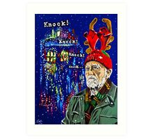 Wilfred Mott and the Four Knocks. Art Print
