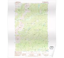 USGS Topo Map Washington State WA Mt Washington 242725 1985 24000 Poster